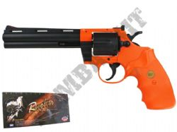 UA938 Airsoft BB Revolver Gun 2 Tone Black Orange